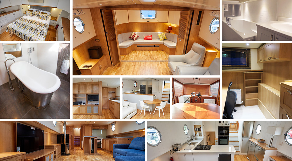 Bespoke Dutch Barge Piper Boats Custom boats designer interiors