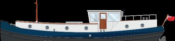 Profile 49L Luxemotor Class Dutch Barge