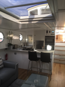 Bespoke Interior  Saloon Galley Jangus Piper Boats 55L