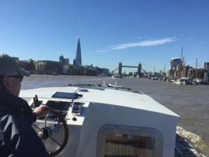 Piper Boats Dutch S|yle Barge 55L Exterior Helm Thames Estuary London