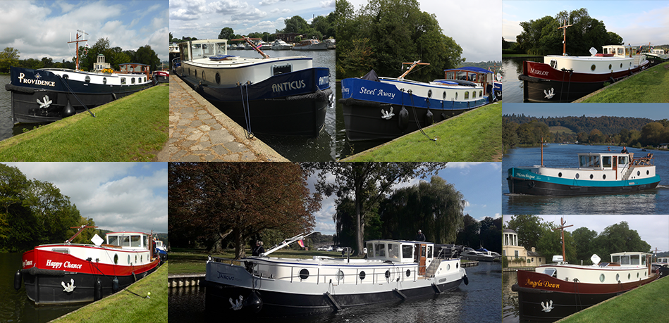 Dutch Barges On Display Temple Island Meadow Henley Event Piper Boats