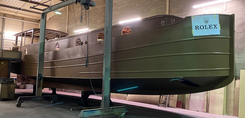 Steelwork Piper Boats Dutch Barge
